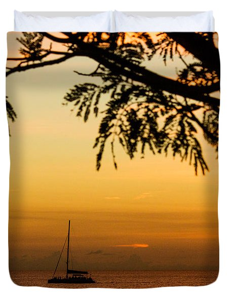 Sunset Sail Duvet Cover by Rene Triay Photography