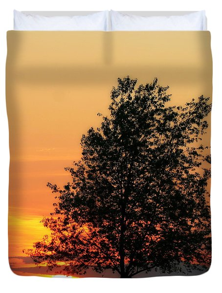 Sunset Square Duvet Cover by Angela Rath