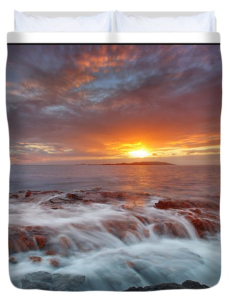 Sunset Tides - Cemlyn Duvet Cover