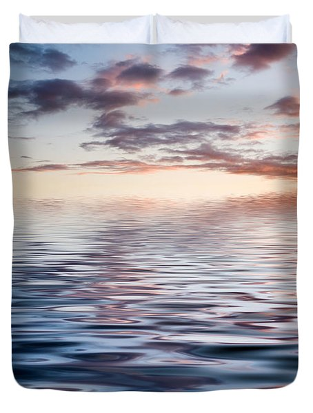 Sunset With Reflection Duvet Cover by Kati Molin