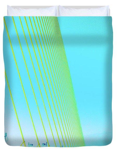 Duvet Cover featuring the photograph Sunshine  Bridge by Lizi Beard-Ward