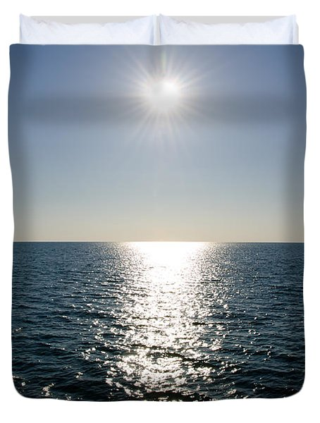 Sunshine Over The Mediterranean Sea Duvet Cover