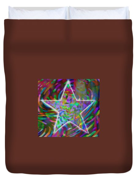 Super Star Duvet Cover by Kevin Caudill