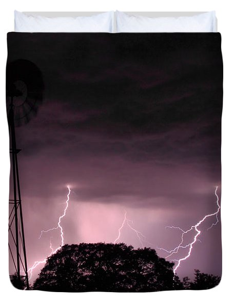 Super Storm Duvet Cover by Linda Unger