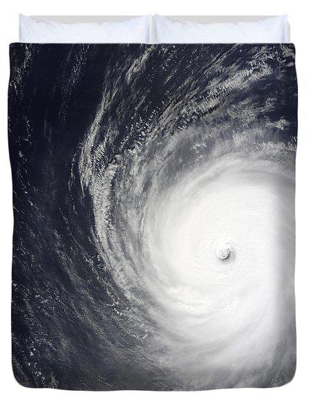 Super Typhoon Melor Hovers Duvet Cover