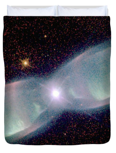 Supersonic Exhaust From Nebula Duvet Cover by STScI/NASA/Science Source