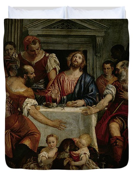 Supper At Emmaus Duvet Cover by Veronese