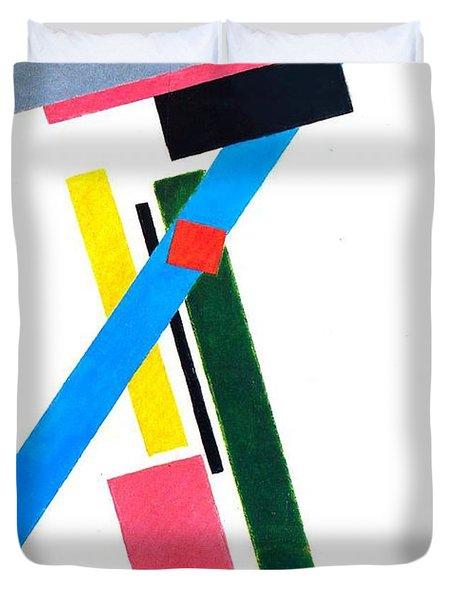 Suprematism Duvet Cover by Kazimir Severinovich Malevich