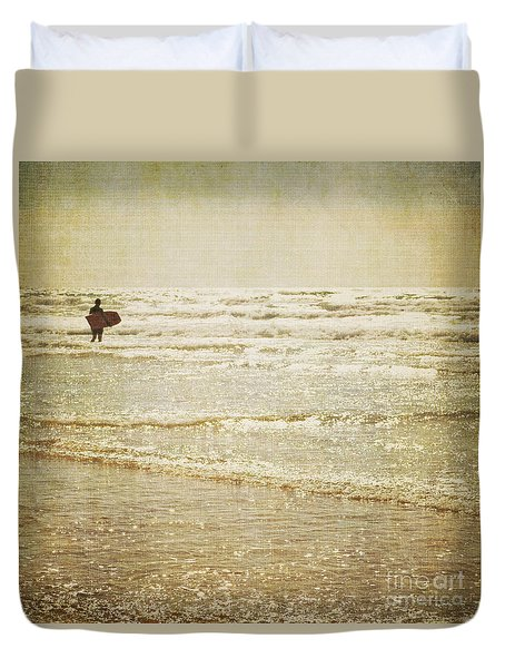 Surf The Sea And Sparkle Duvet Cover