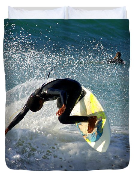 Surfer Duvet Cover by Carlos Caetano