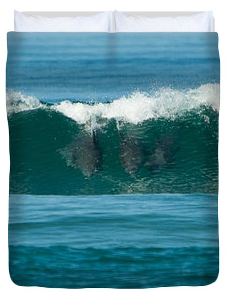 Surfing Dolphins 2 Duvet Cover
