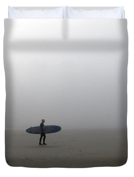 Surfing Into The Abyss Duvet Cover