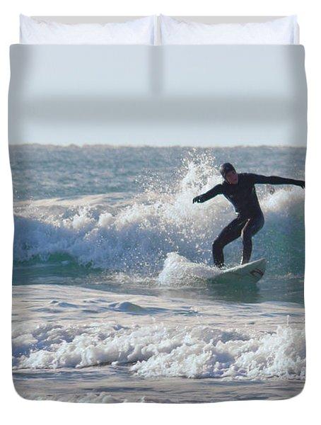 Surfing The Atlantic Duvet Cover by Brian Roscorla