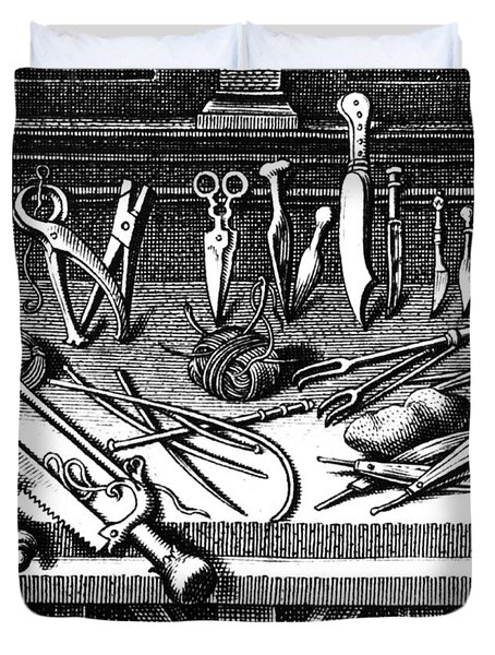 Surgical Equipment, 16th Century Duvet Cover by Science Source