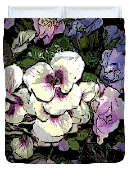 Surrounding Pansies Duvet Cover