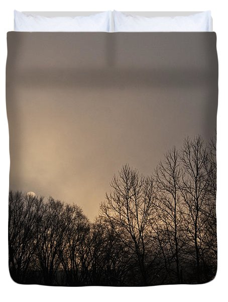 Susquehanna River Sunrise Duvet Cover