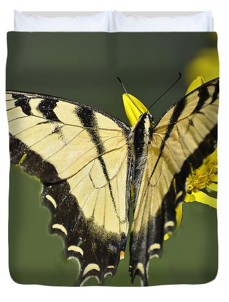 Swallowtail And Friend Duvet Cover
