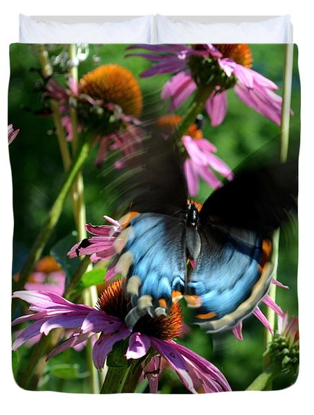 Swallowtail In Motion Duvet Cover