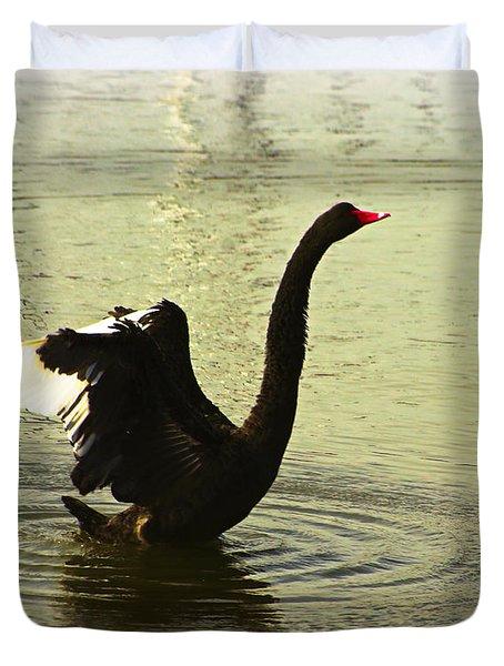 Swan Dance 3 Duvet Cover by Blair Stuart