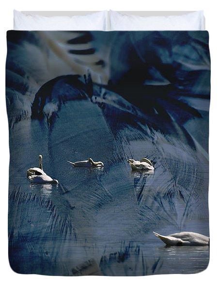 Swan Feather Duvet Cover by Michael Mogensen