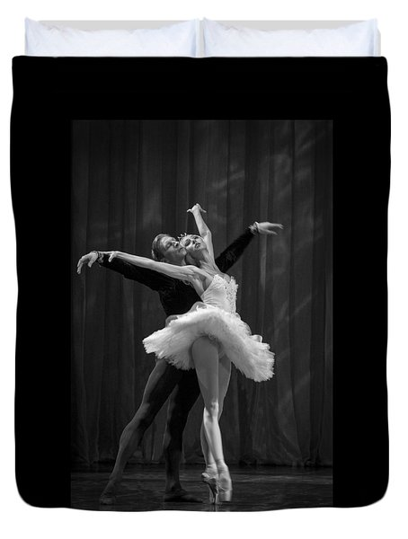Duvet Cover featuring the photograph Swan Lake  White Adagio  Russia 2 by Clare Bambers