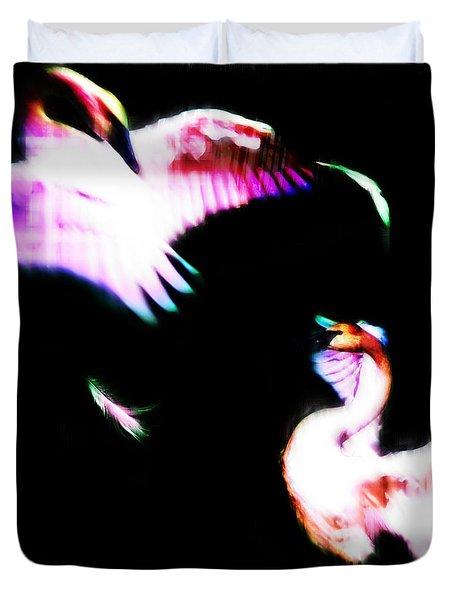 Swans Duvet Cover by Adam Vance