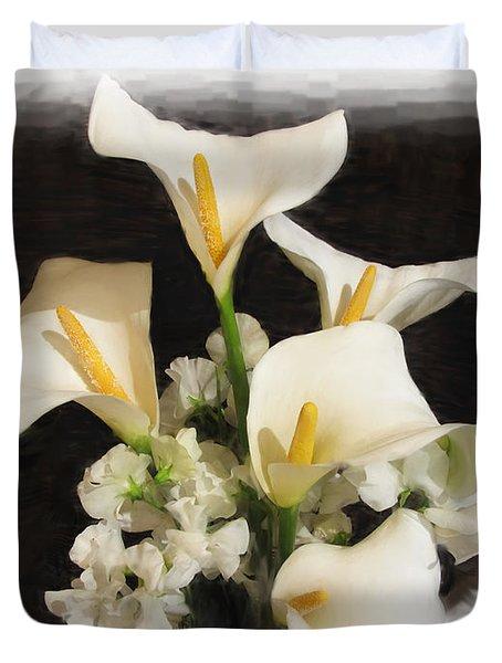 Sweet Calla Lilies Duvet Cover