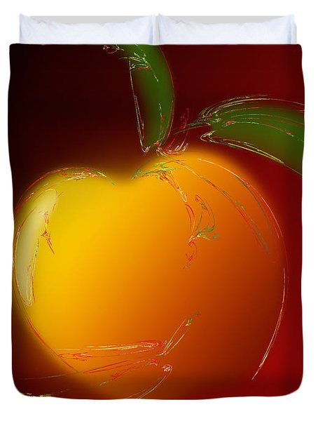 Sweet Peach 1 Duvet Cover by Andee Design