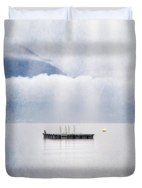 Swim Platform Duvet Cover by Joana Kruse