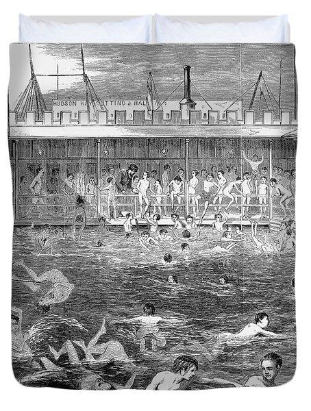 Swimming, 1870 Duvet Cover