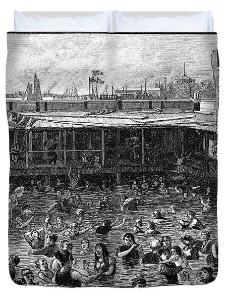 Swimming, 1882 Duvet Cover