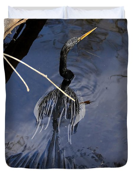 Swimming Bird Duvet Cover by David Lee Thompson