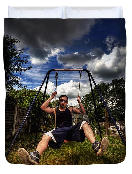 Swinger Duvet Cover by Yhun Suarez