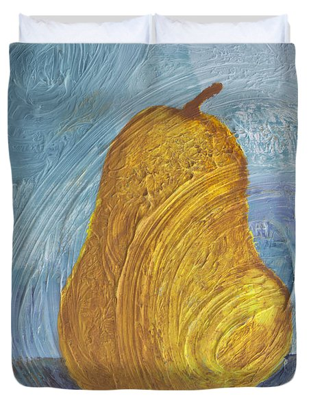 Swirling Pear Duvet Cover by Wayne Potrafka