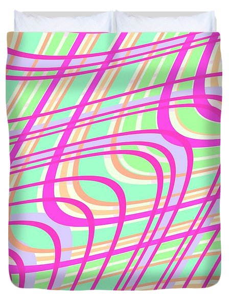 Swirly Check Duvet Cover by Louisa Knight