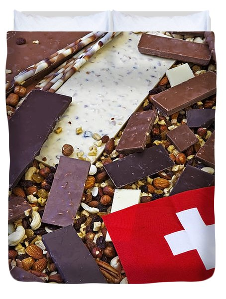 Swiss Chocolate Duvet Cover by Joana Kruse