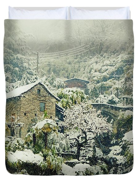 Switzerland In Winter Duvet Cover by Joana Kruse
