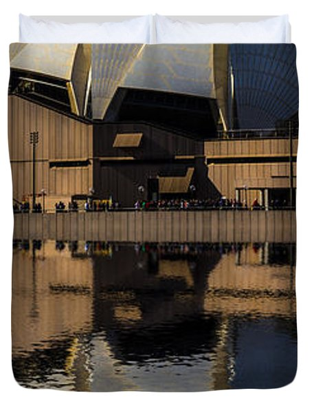 Sydney Opera House Abstract Duvet Cover by Avalon Fine Art Photography