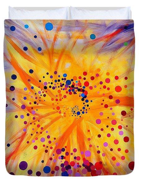 Symmetry Breaking Duvet Cover by Regina Valluzzi