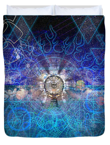 Synesthetic Dreamscape Duvet Cover