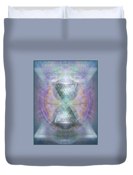 Synthesphered Grail On Caducus Blazed Tapestrys Duvet Cover