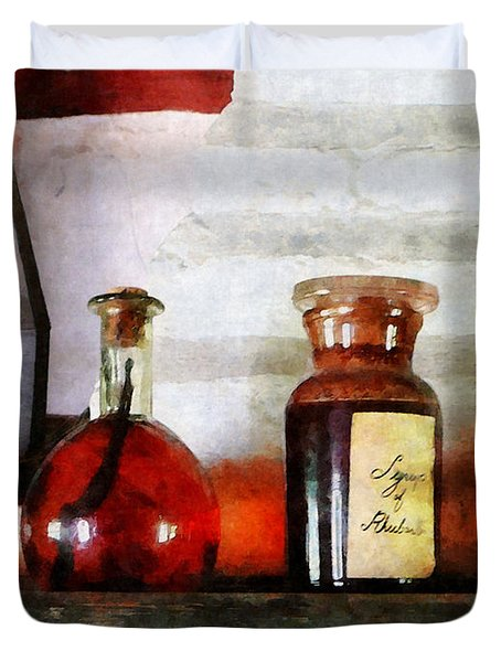Syrup Of Rhubarb Duvet Cover by Susan Savad
