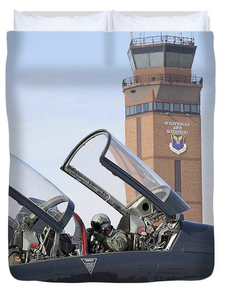 T-38 Talon Pilots Make Their Final Duvet Cover by Stocktrek Images