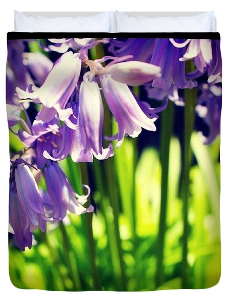 Blue Bells In Sunlight Duvet Cover