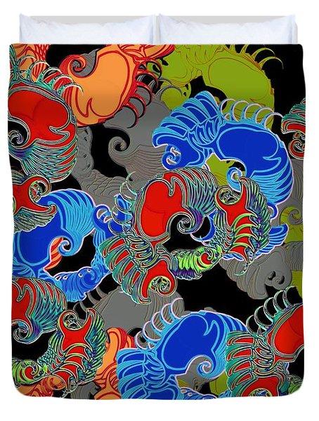 Tainted Shrimp Duvet Cover