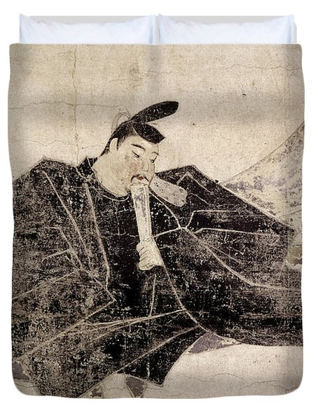 Taira No Kanemori (?-991) Duvet Cover