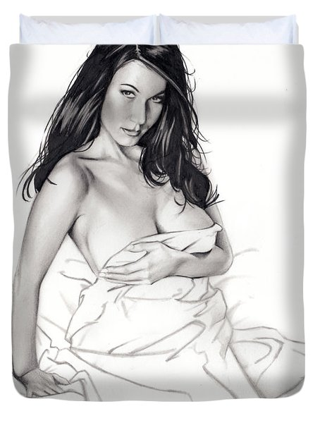 Take On Me Duvet Cover by Pete Tapang