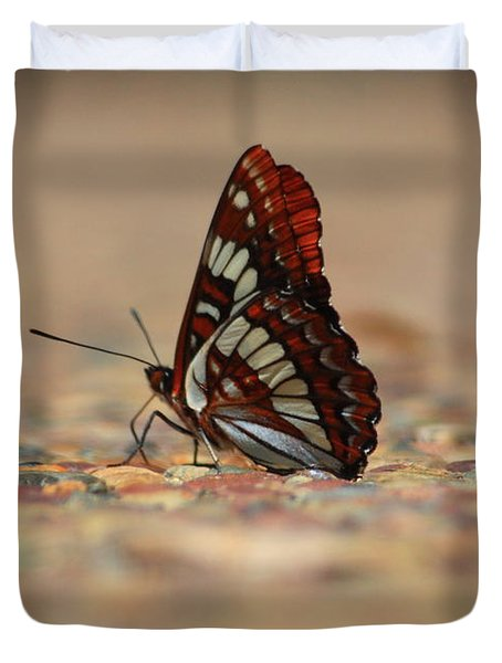 Duvet Cover featuring the photograph Taking A Breather by Patrick Witz