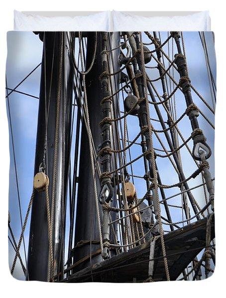 Tall Ship Mast Duvet Cover