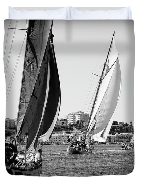Duvet Cover featuring the photograph Tall Ship Races 2 by Pedro Cardona